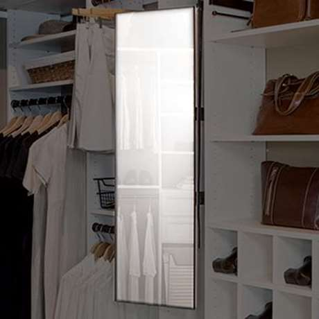 PULL-OUT PIVOTING CLOSET MIRROR