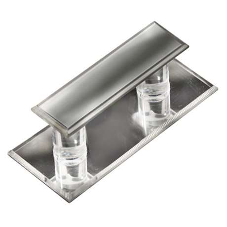 Large Mirrored Acrylic Pull for Glass Doors, Part#